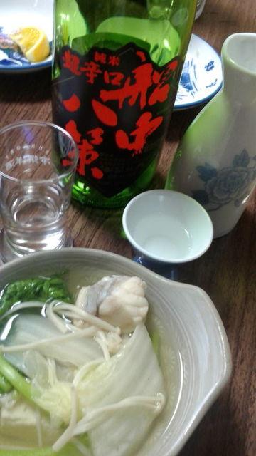 (26)船中八策(冷酒とぬる燗)とアンコウ鍋