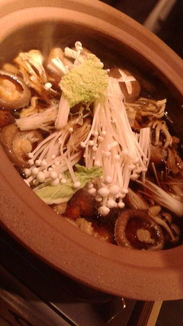 (17)鴨鍋にまずは野菜