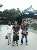 高知城で記念写真