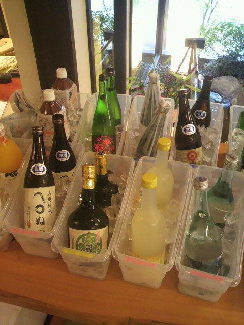 出品酒ズラリ(司牡丹)