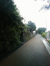 日根野道場跡付近