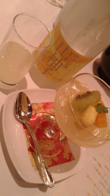 (15)「山柚子搾り」とデザート