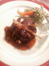 2008.11.13牛フィレ肉のステーキ