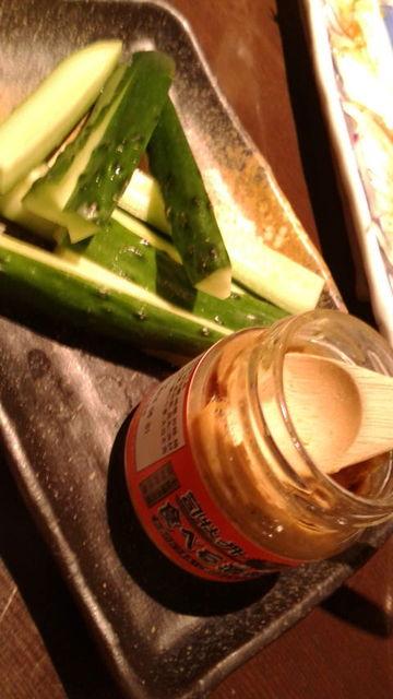 (7)キュウリと食べる酒粕