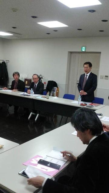 (2)営業幹部の方々との新年会議