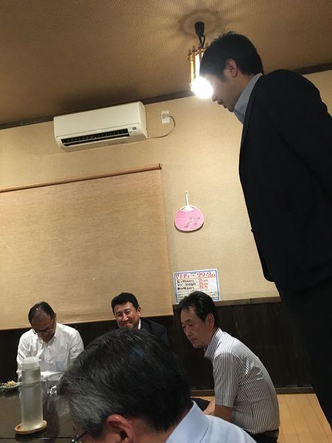 写真35 斎藤専務二次会挨拶