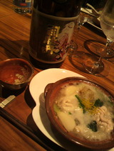 特撰純米酒と雲子鍋.jpg