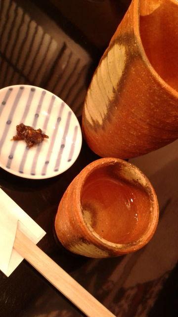 (10)特撰司牡丹・純米酒と蕎麦味噌