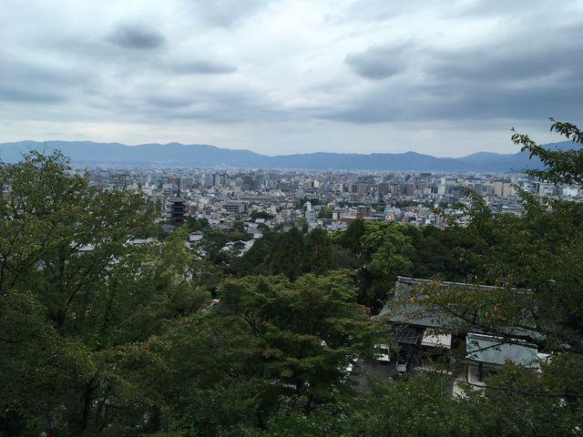 写真13 京都を見下ろす