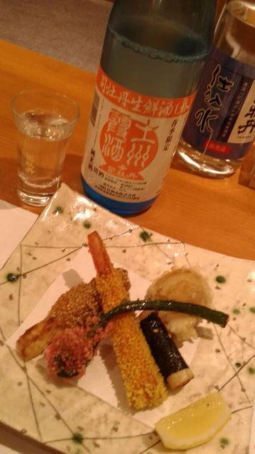 (9)霞酒と副菜