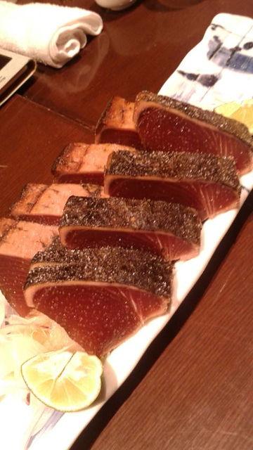 (7)厚切りカツオの塩タタキ