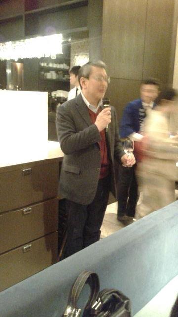 (6)飯田社長乾杯