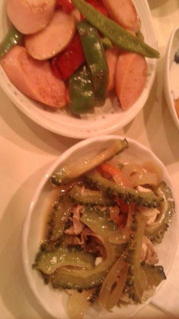 (5)魚肉ソーセージ、ゴーヤチャンプル