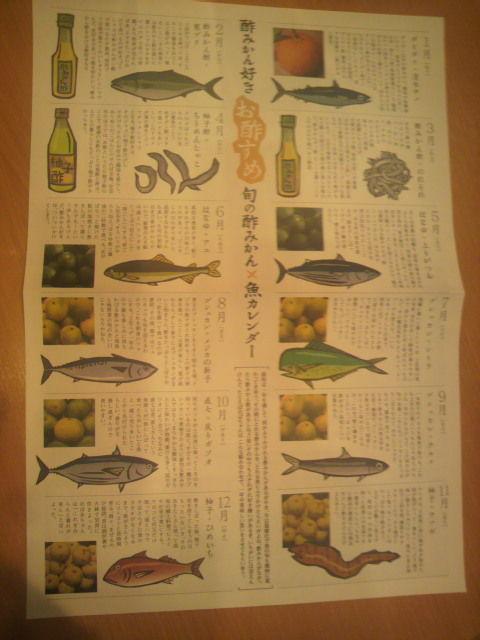 (3)酢みかん×魚カレンダー