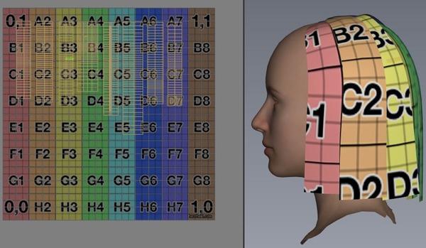 6 後ろ髪外 UVマップを上下左右反転