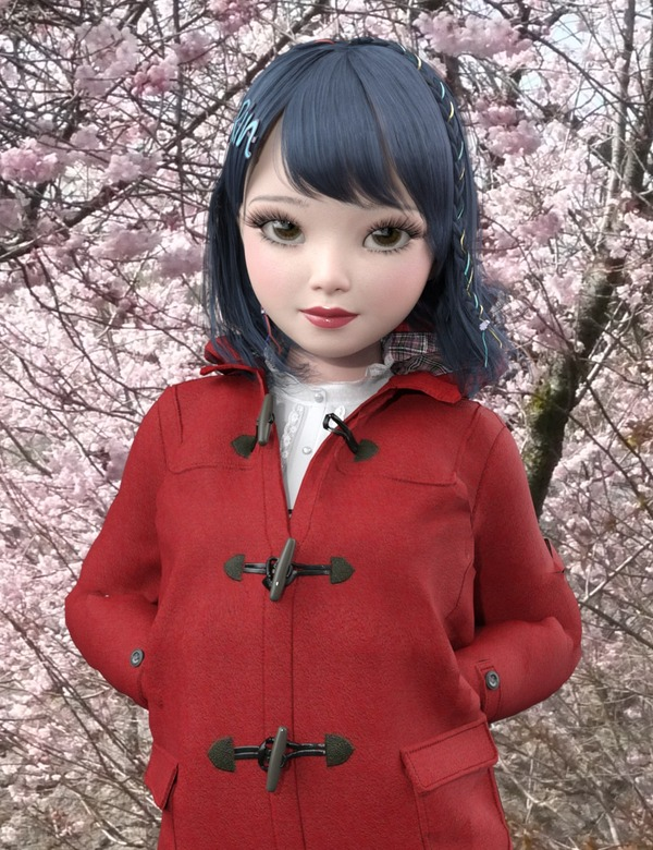 ★Brigitte Duffle Coat 桜-min