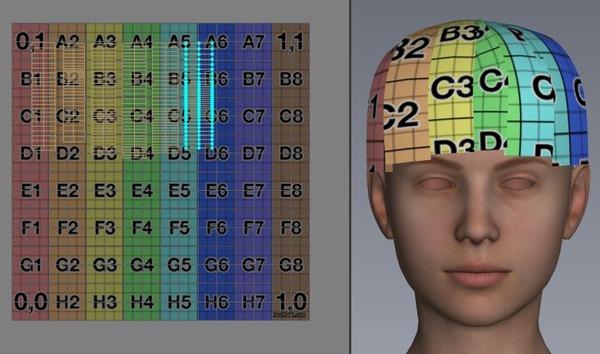 4 前髪 UVマップを上下左右反転