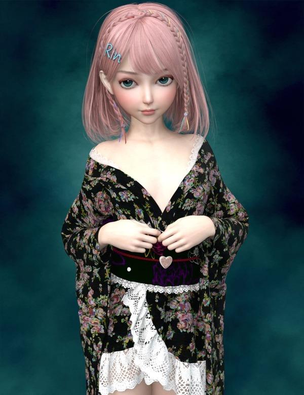 RinちゃんとPretty Kimono-min