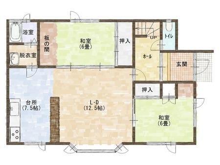 和田宅1F平面図