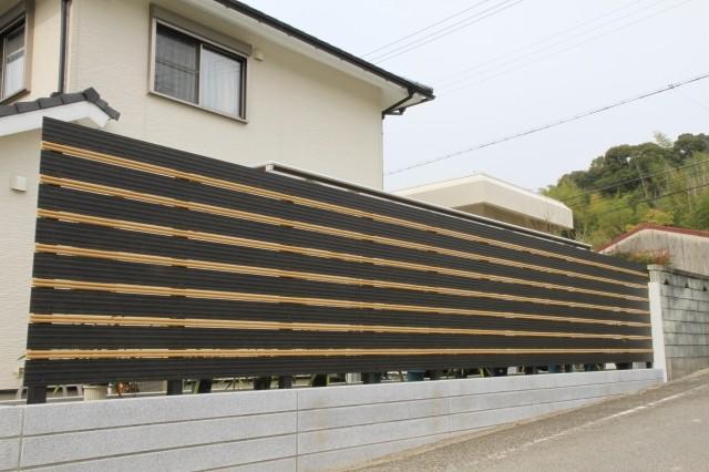 アルミ板塀