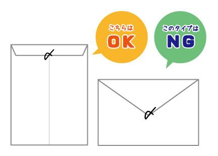 封入マーク 逆に「〆」マークを書いてしまうと、「×」マークと見られてしまい、悪い印象を与えてしま
