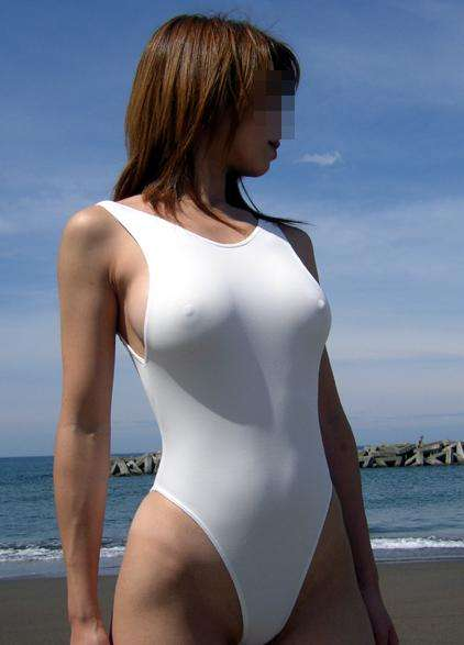 hard nipples swimming suit