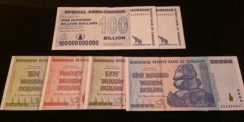 ジンバブエドル 100兆ドル 100 trillion Zimbabwe Dollars