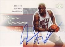 03-04 UD Ultimate Collection Ultimate Signature Dennis Rodman