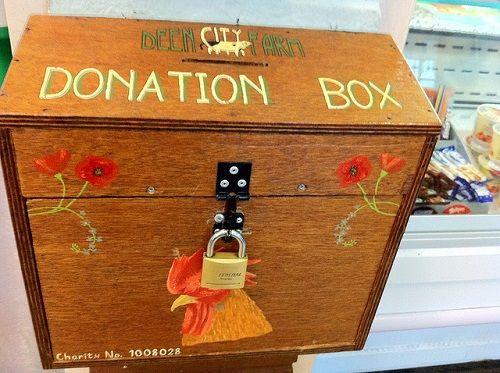 donation box 寄付