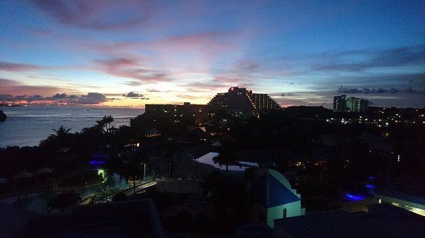 グアム 夜景 オンワード・ビーチ・リゾート