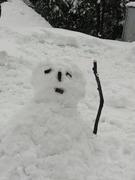 疲れた雪だるま
