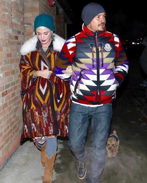 オーランド・ブルーム、モンクレールを着てケイティ・ペリーとデート中