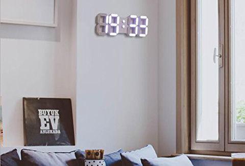LED デジタル壁掛け時計 リモコン付 温度表示