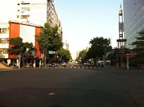 台北市内街路ランニング
