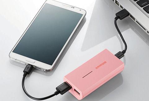 同時充電対応モバイルバッテリ