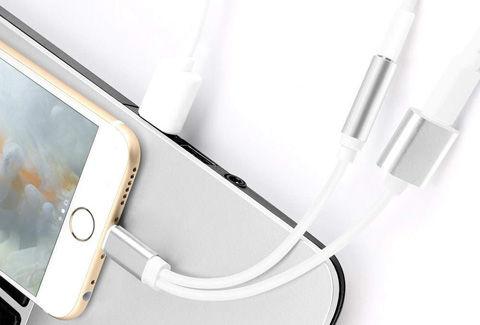 イヤホン+充電 iphone 二股 充電 イヤホン lightning変換ケーブル