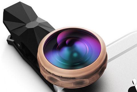 スマホ用カメラレンズ 238°超広角 魚眼