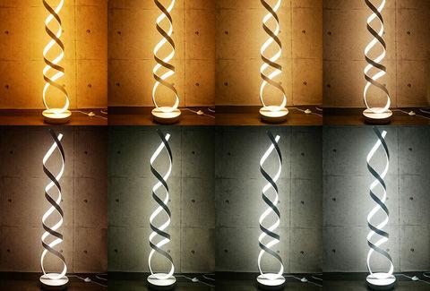 調色 調光機能付 螺旋 LEDテーブルライト