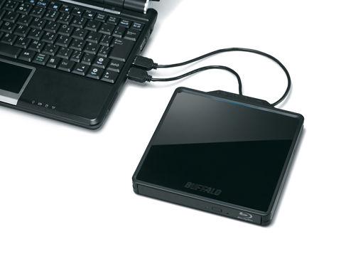 ノートPCと一緒に持ち運び1枚100GBポータブルBlu-rayドライブ