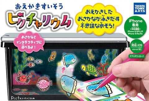ミニチュアチームラボのお絵かき水族館