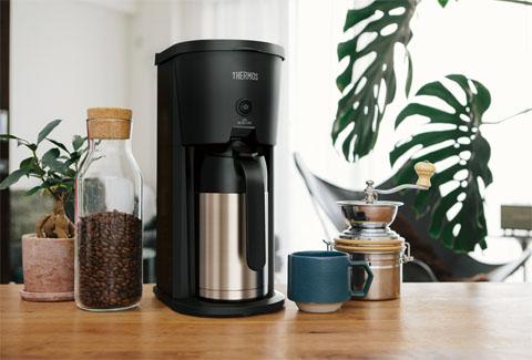 真空断熱ポットコーヒーメーカー 0.63L ブラック ECJ-700 BK