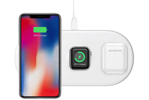 Smart 3in1 Wireless Charger For Phone+Watch+Pods