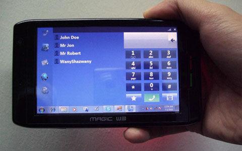 Windows 7で動くスマートフォンMagic W3