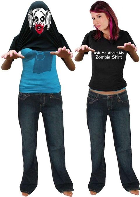 ゾンビに変身Tシャツの類似商品