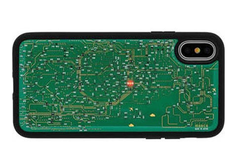 FLASH 東京回路線図 iPhoneX ケース