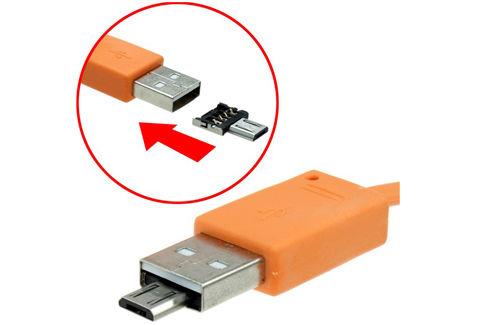 極小USB microUSB変換アダプタ
