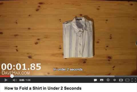 たった2秒でシャツをたたむ方法
