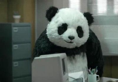 つぶらな瞳のパンダ