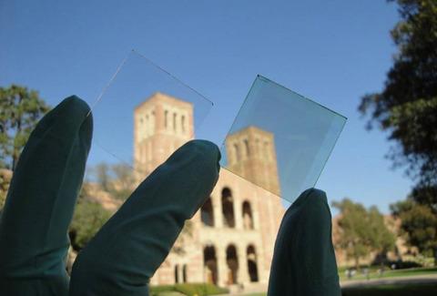 ガラス窓に使える透明ソーラー発電パネル