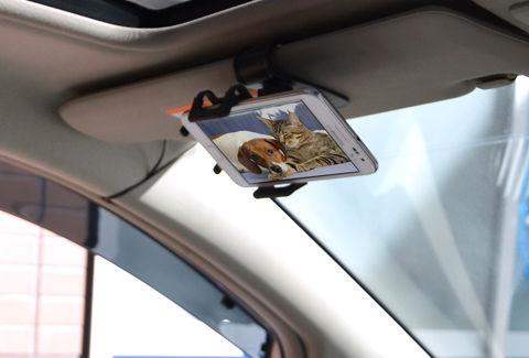 スマートフォン車載サンバイザーホルダー